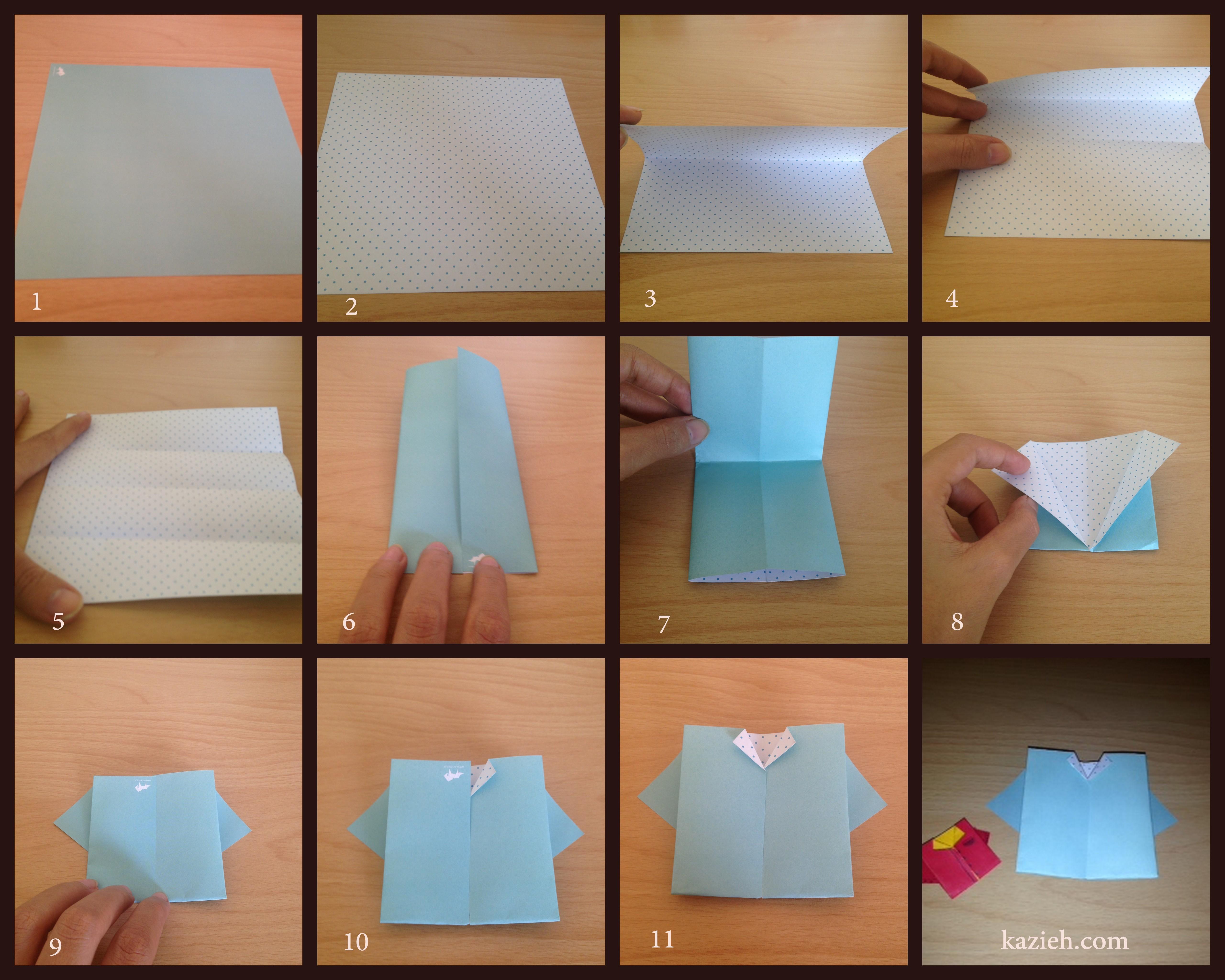 آموزش تیشرت اوریگامی - آموزش تیشرت اریگامی