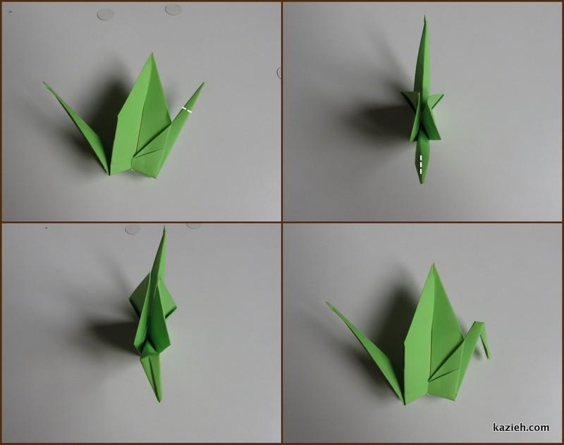 آموزش درنای اوریگامی -مرحله دهم - کازیه