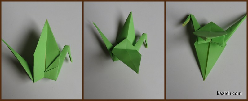 آموزش درنای اوریگامی -مرحله یازدهم - کازیه