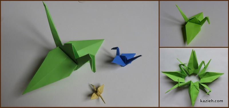 درنای اوریگامی - کازیه