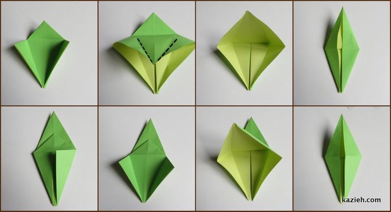 آموزش درنای اوریگامی -مرحله ششم - کازیه