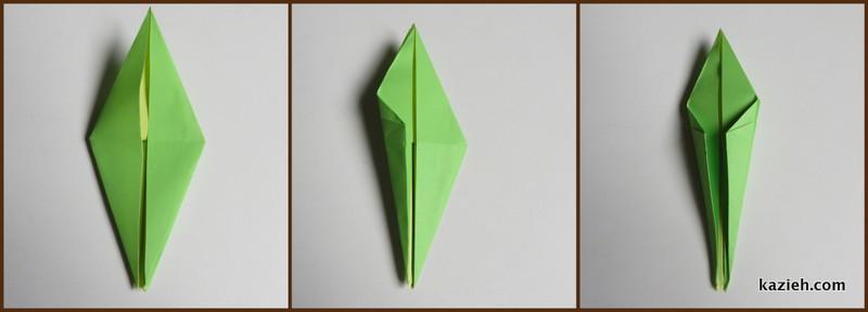 آموزش درنای اوریگامی -مرحله هفتم - کازیه