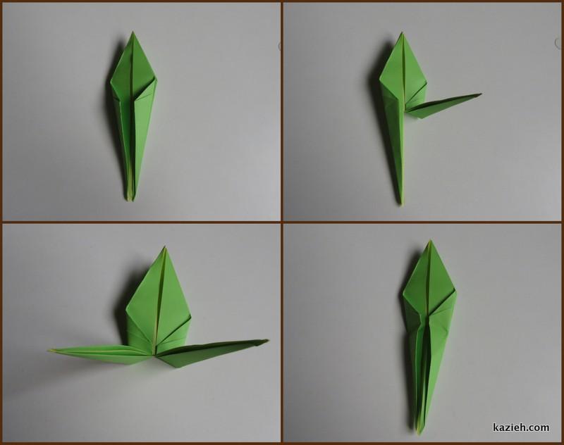 آموزش درنای اوریگامی -مرحله هشتم - کازیه