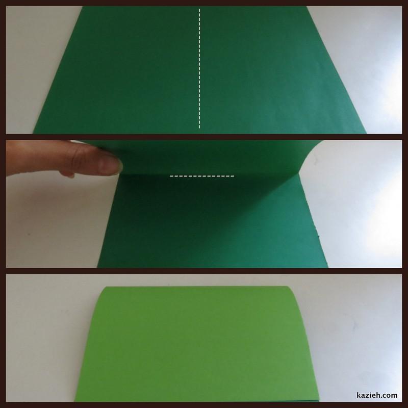 آموزش قایق اوریگامی - مرحله اول - کازیه