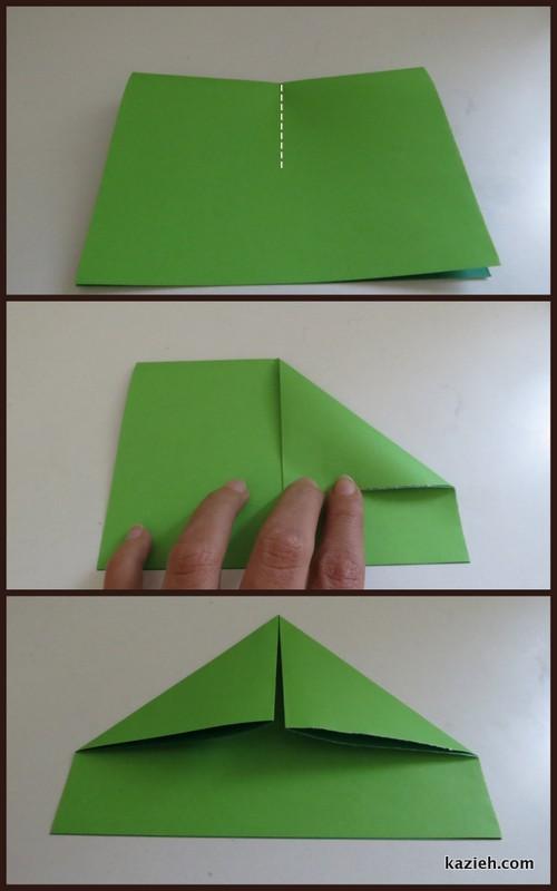 آموزش قایق اوریگامی - مرحله سوم - کازیه