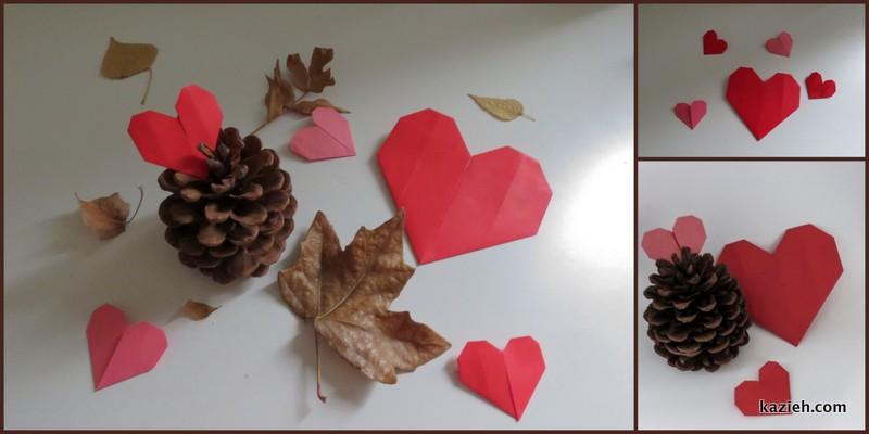 اموزش قلب اوریگامی ساده - کازیه