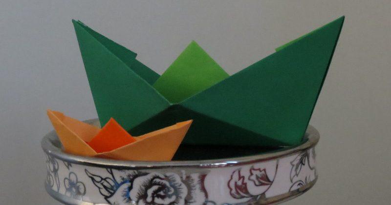 قایق کاغذی اریگامی - کازیه