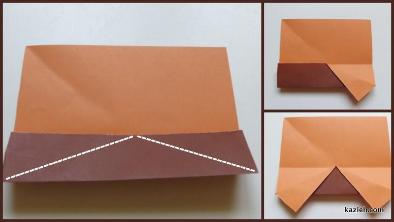 آموزش ماشین اوریگامی ساده - مرحله سوم - کازیه