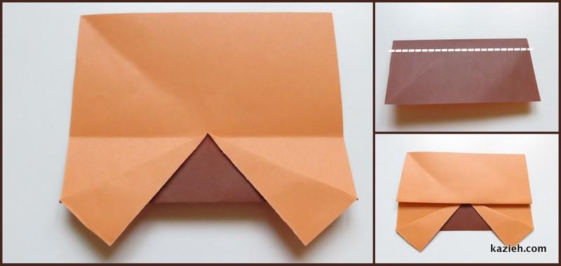 آموزش ماشین اوریگامی ساده - مرحله چهارم - کازیه