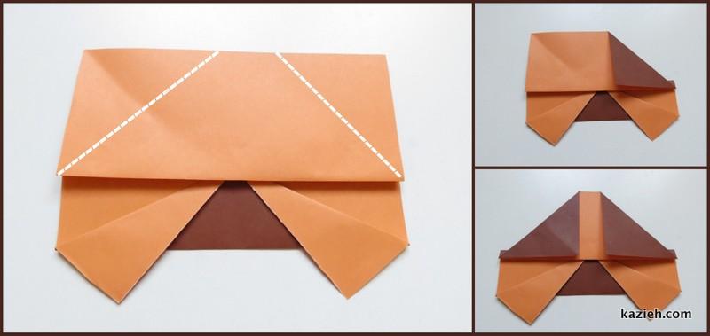 آموزش ماشین اوریگامی ساده - مرحله پنجم - کازیه
