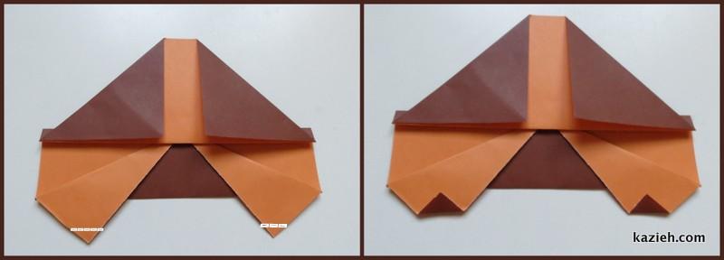 آموزش ماشین اوریگامی ساده - مرحله ششم - کازیه