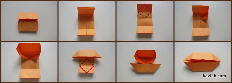 آموزش قاب عکی اوریگامی ساده - مرحله سوم - کازیه