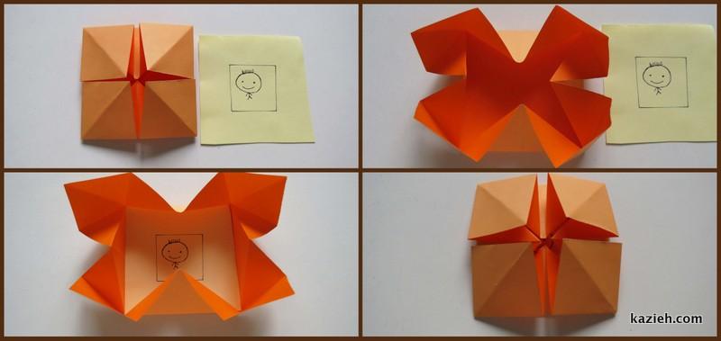 آموزش قاب عکی اوریگامی ساده - مرحله پنجم - کازیه