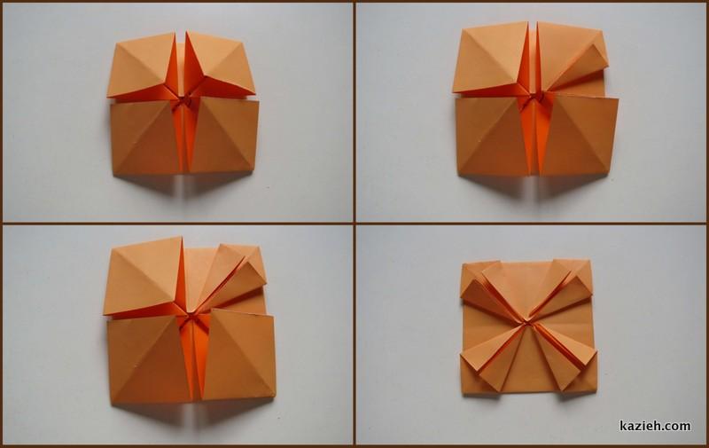 آموزش قاب عکی اوریگامی ساده - مرحله ششم - کازیه