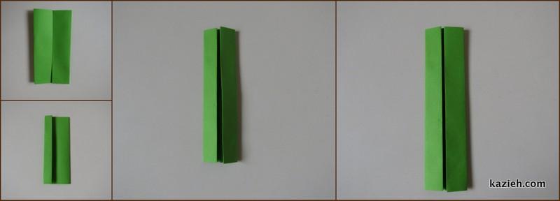 آموزش واحد مکعب اوریگامی مدولار (ماژولار) - مرحله دوم- کازیه