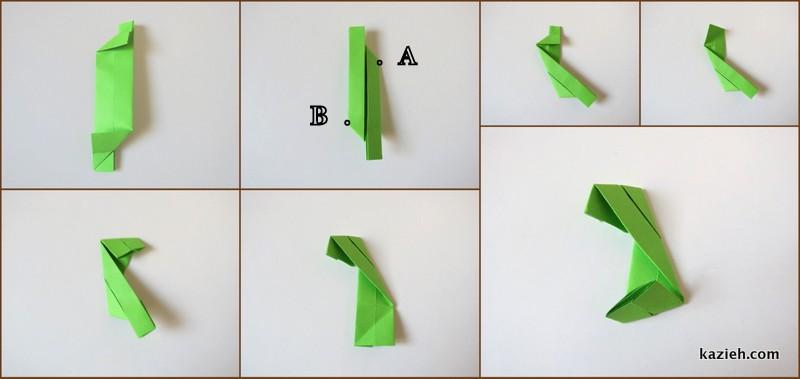 آموزش واحد مکعب اوریگامی مدولار (ماژولار) - مرحله چهارم- کازیه