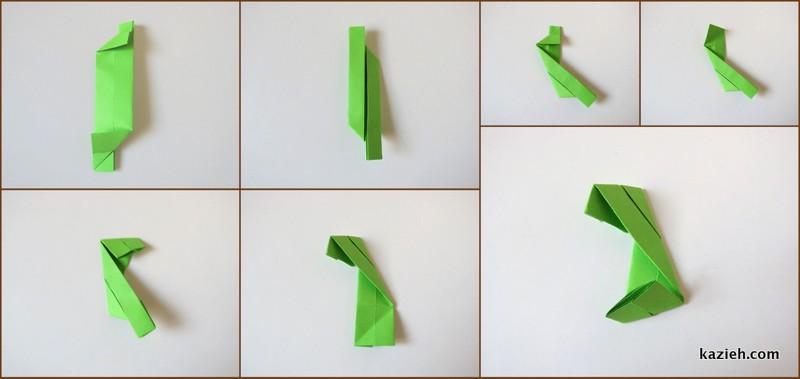 آموزش واحد مکعب اوریگامی مدولار (ماژولار) - مرحله پنجم- کازیه