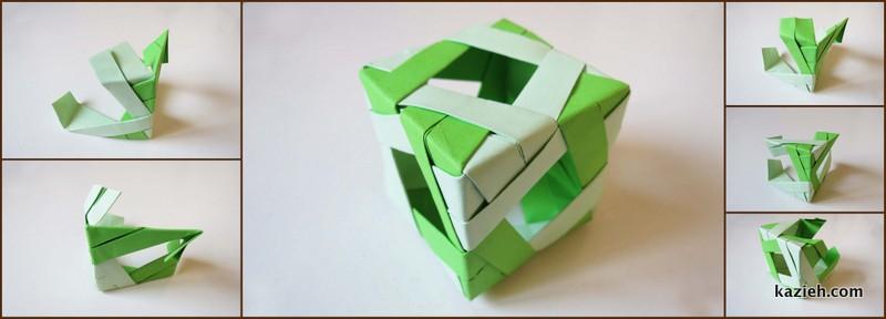 آموزش اتصال واحدهای مکعب اوریگامی مدولار (ماژولار) - کازیه