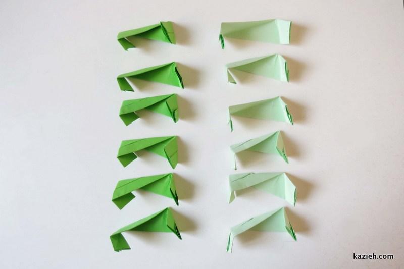 واحدهای مکعب اوریگامی مدولار - کازیه