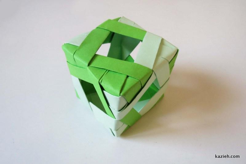 مکعب اوریگامی مدولار (ماژولار) - کازیه