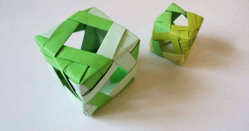 مکعب اوریگامی مدولار - کازیه
