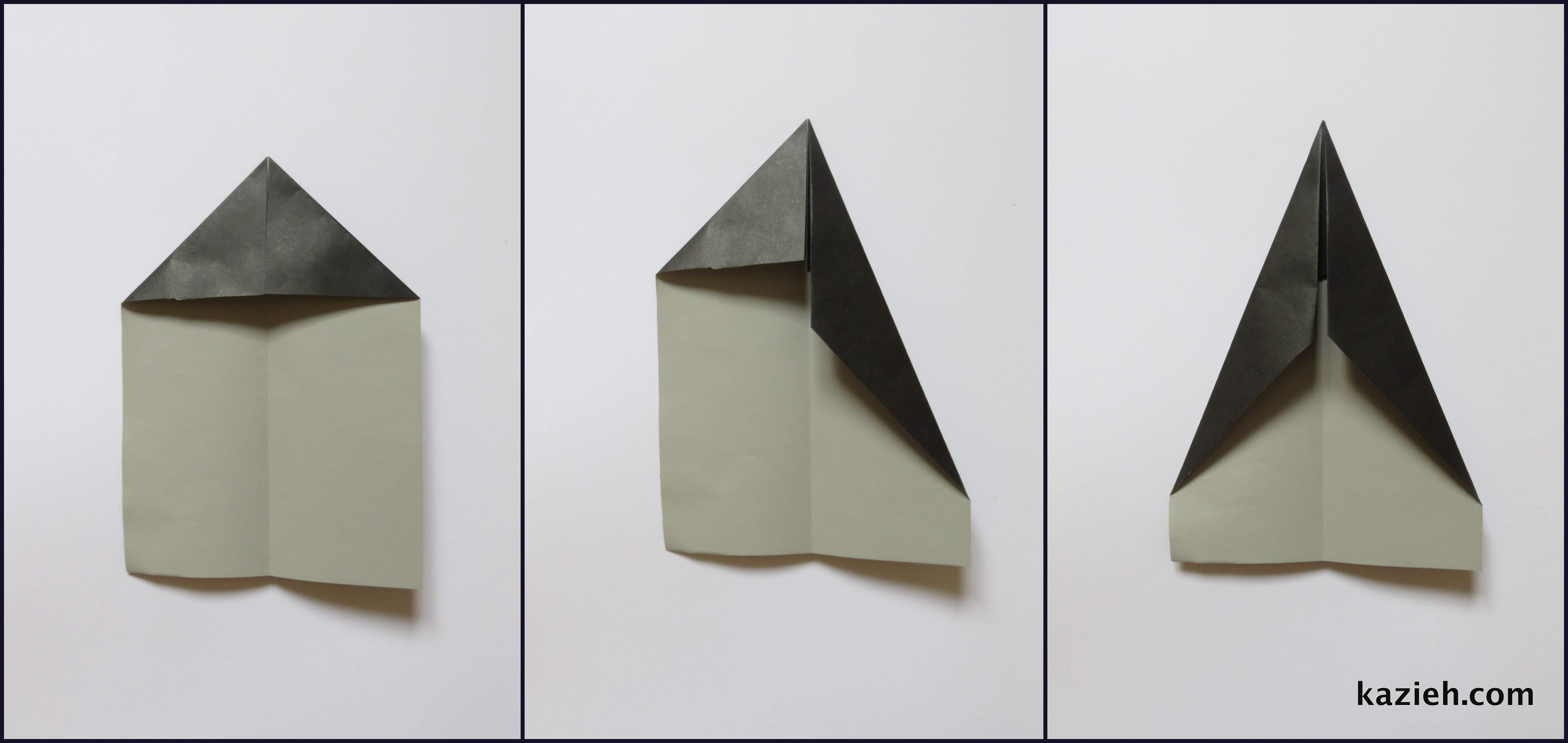 آموزش موشک کاغذی - مرحله دوم - کازیه