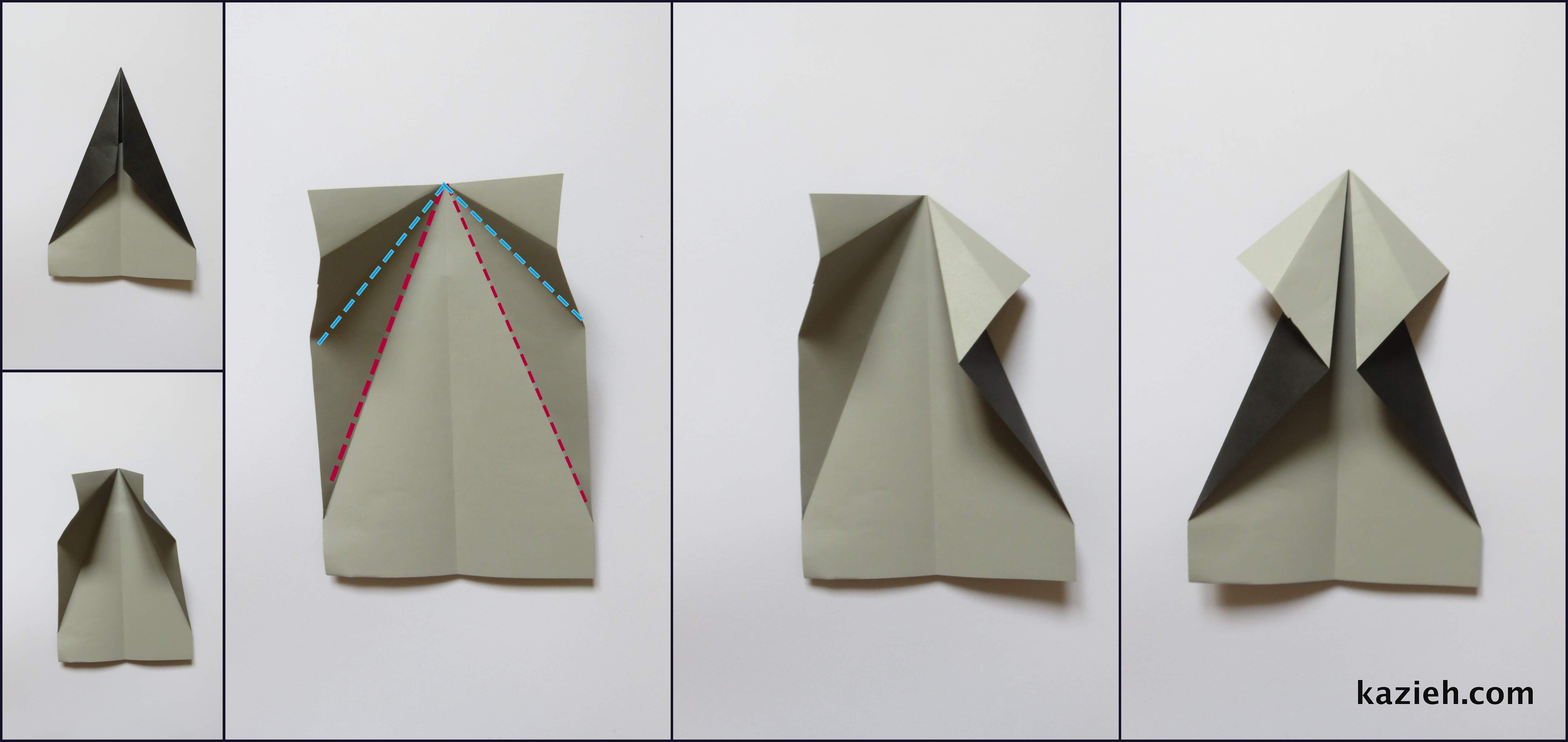 آموزش موشک کاغذی - مرحله سوم - کازیه
