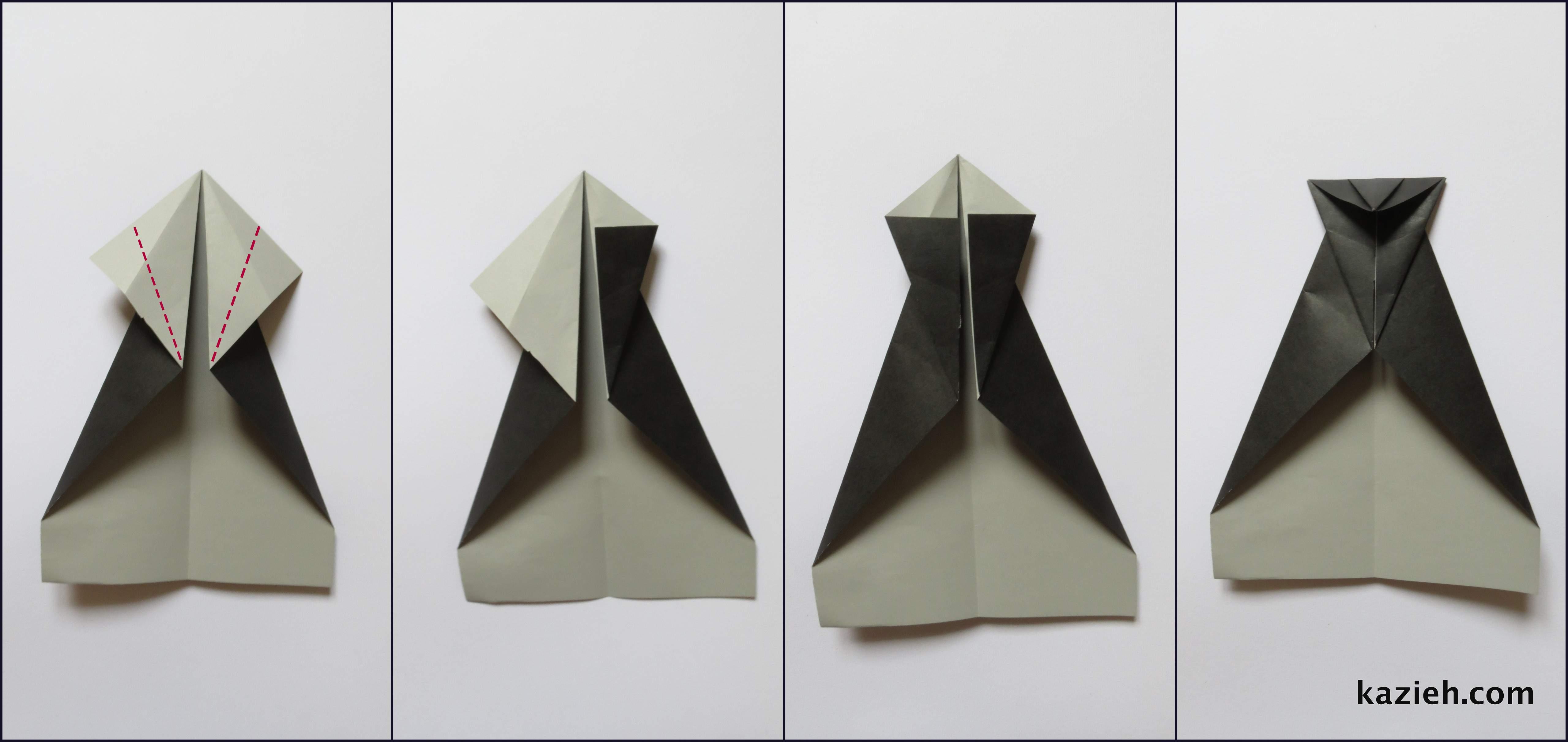 آموزش موشک کاغذی - مرحله چهارم - کازیه