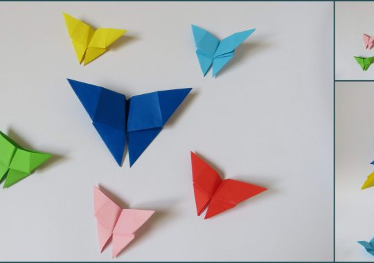 پروانه اوریگامی ساده - کازیه