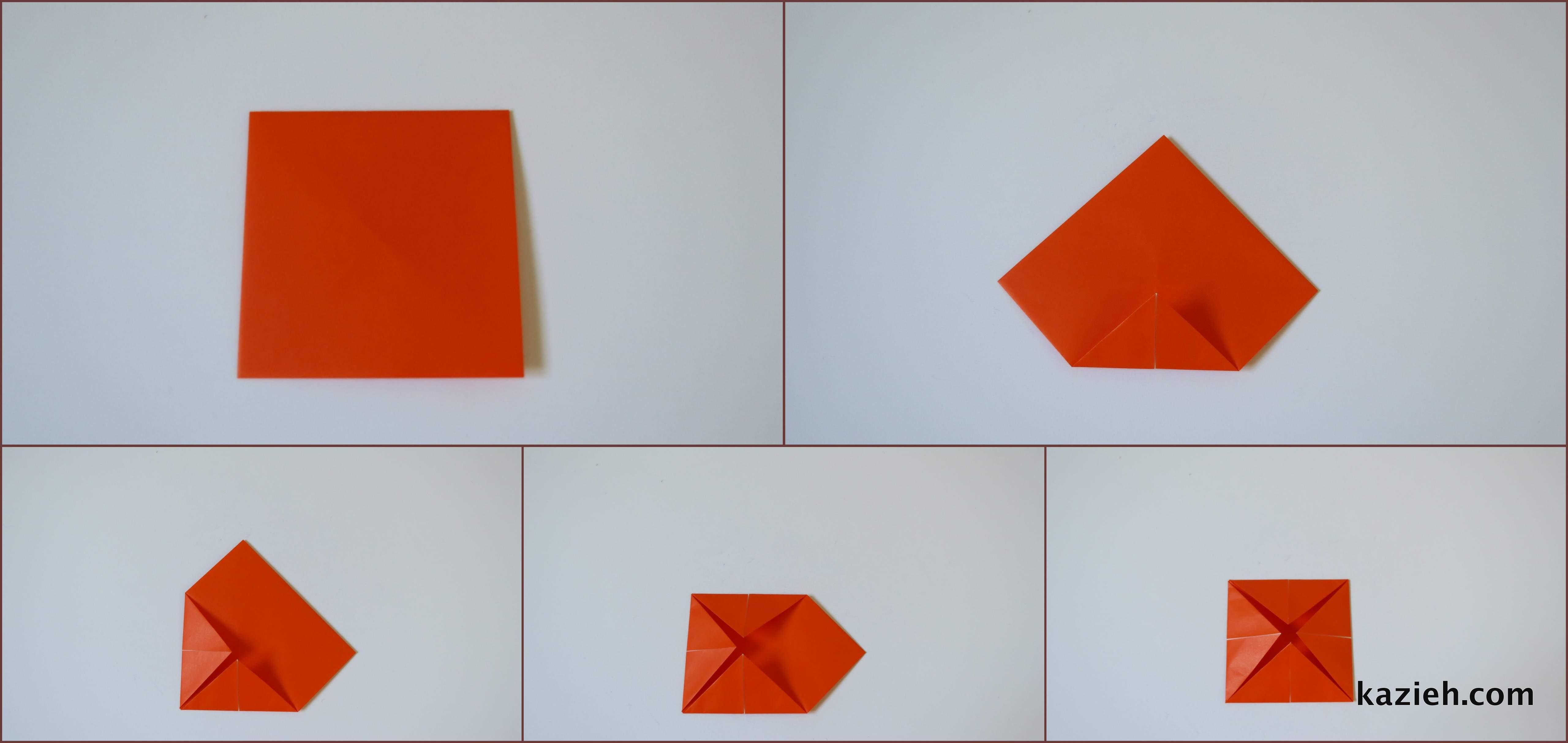آموزش فالگیر اوریگامی -مرحله دوم- کازیه