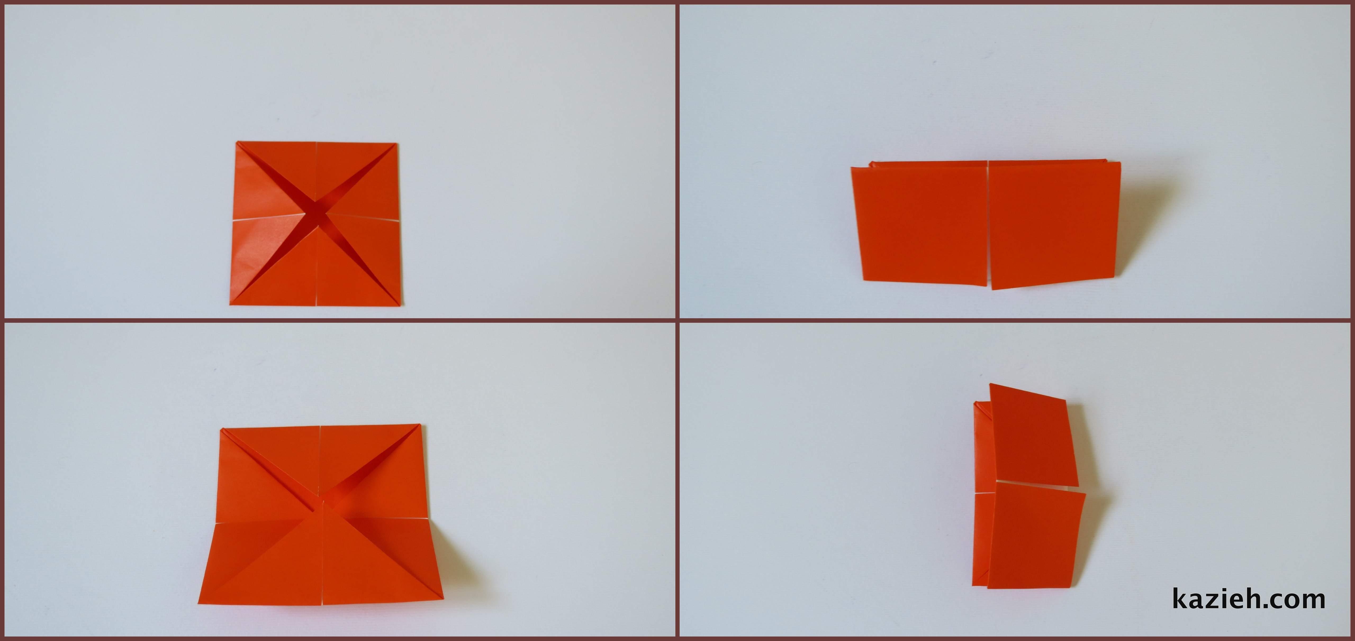 آموزش فالگیر اوریگامی -مرحله سوم- کازیه
