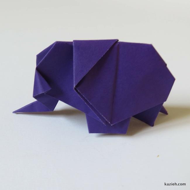 آموزش فیل اوریگامی - کازیه