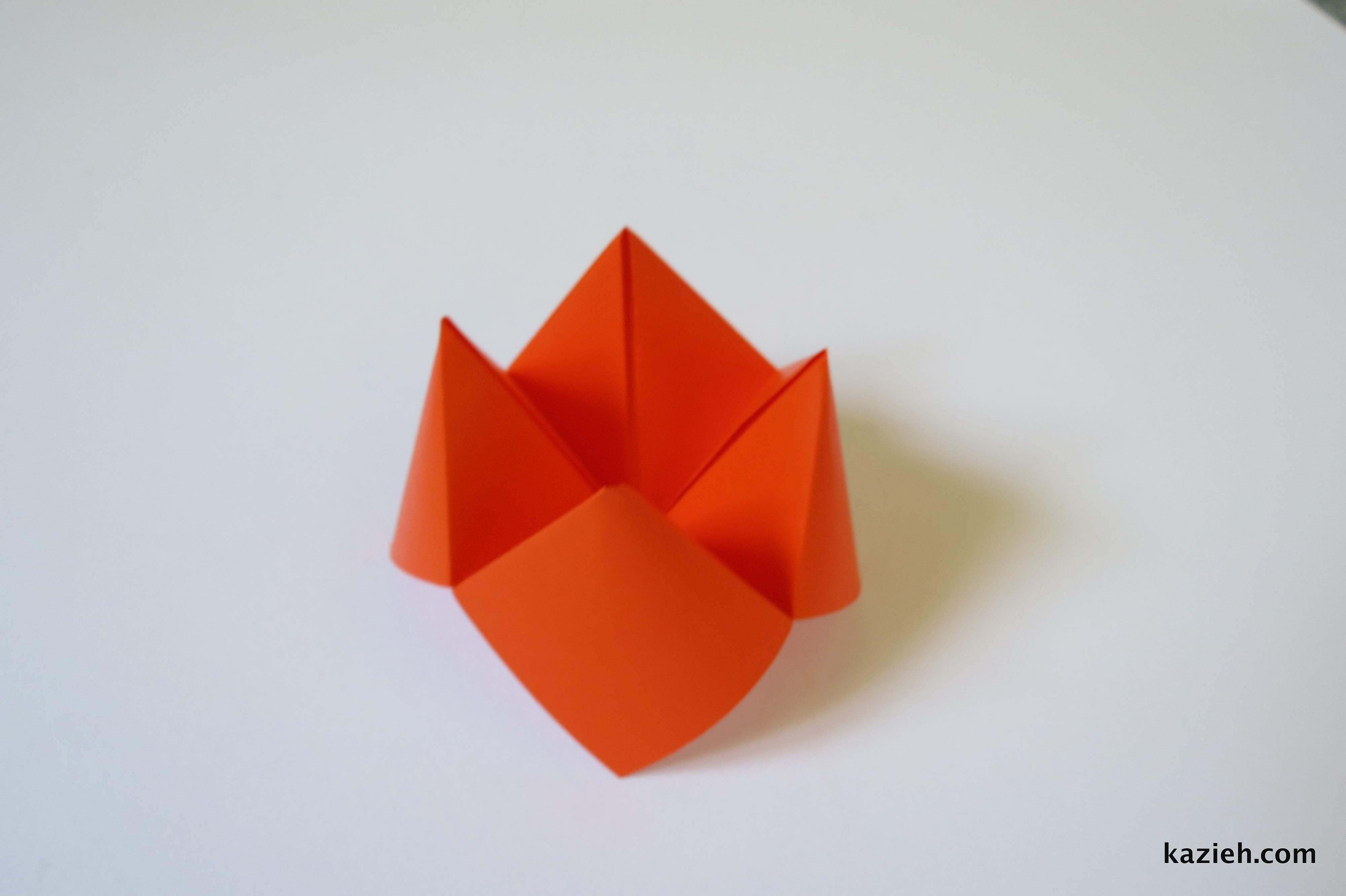 آموزش فالگیر اوریگامی - کازیه
