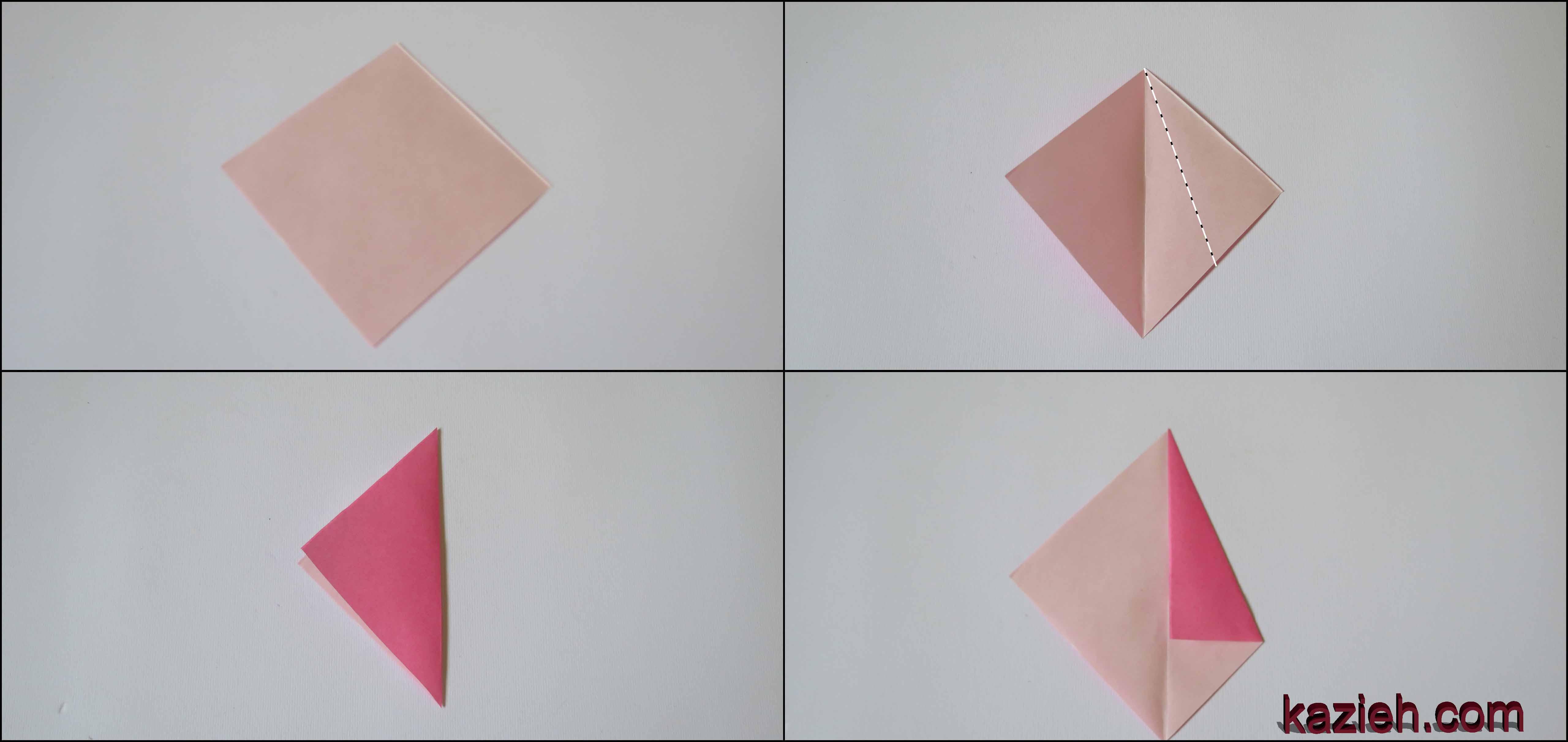 آموزش ستاره اوریگامی رابین- مرحله اول - کازیه