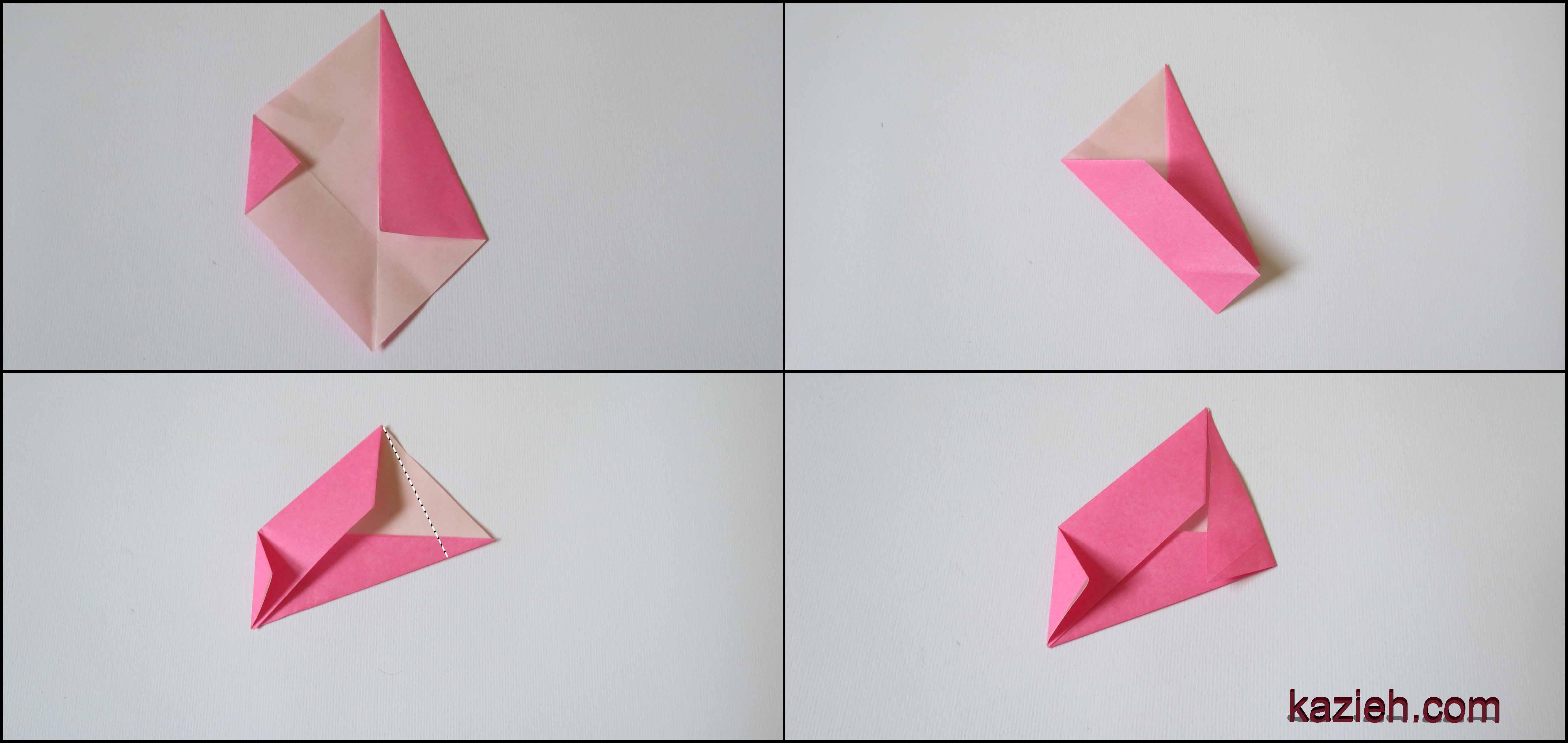 آموزش ستاره اوریگامی رابین- مرحله سوم - کازیه