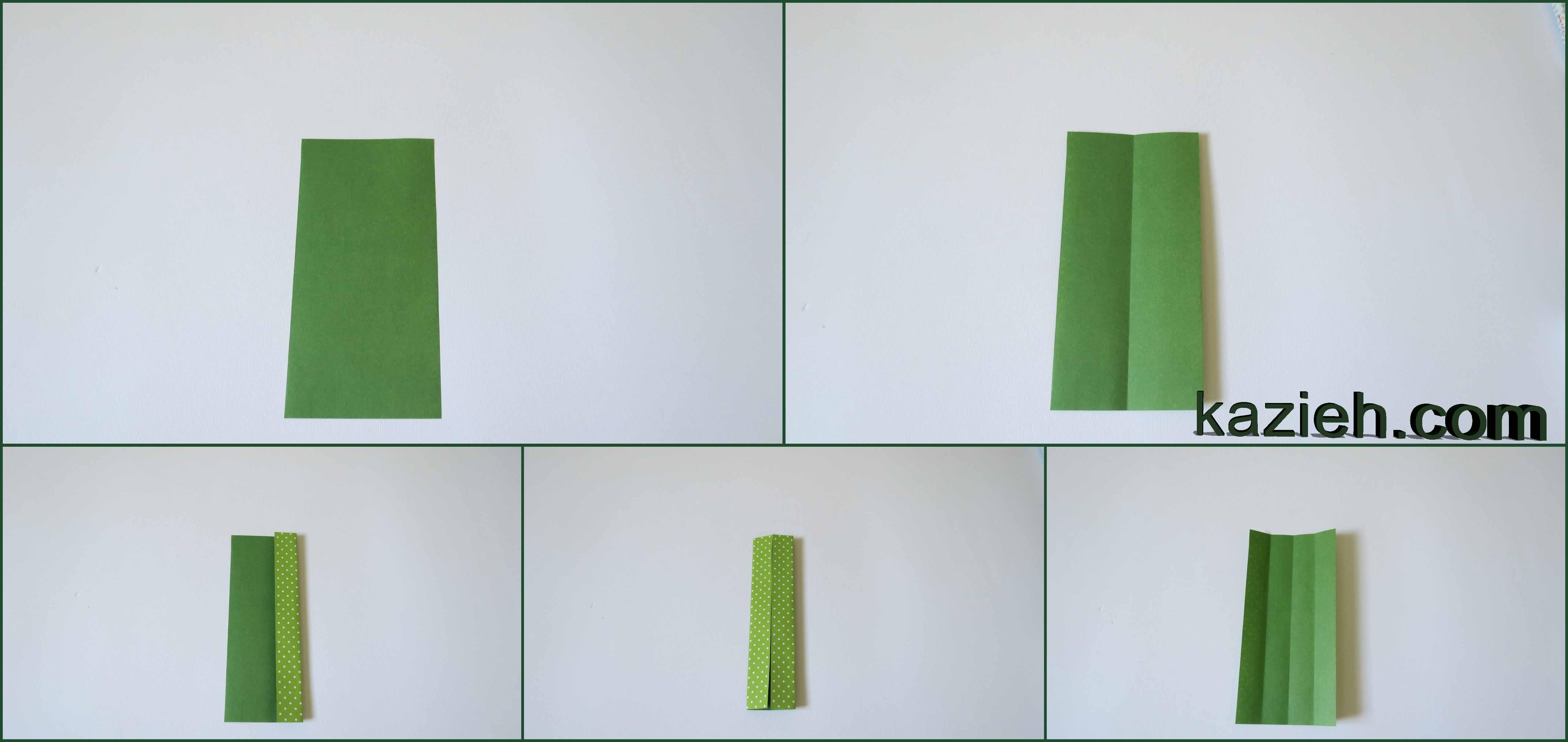 آموزش نشان کتاب قلب اوریگامی - مرحله اول