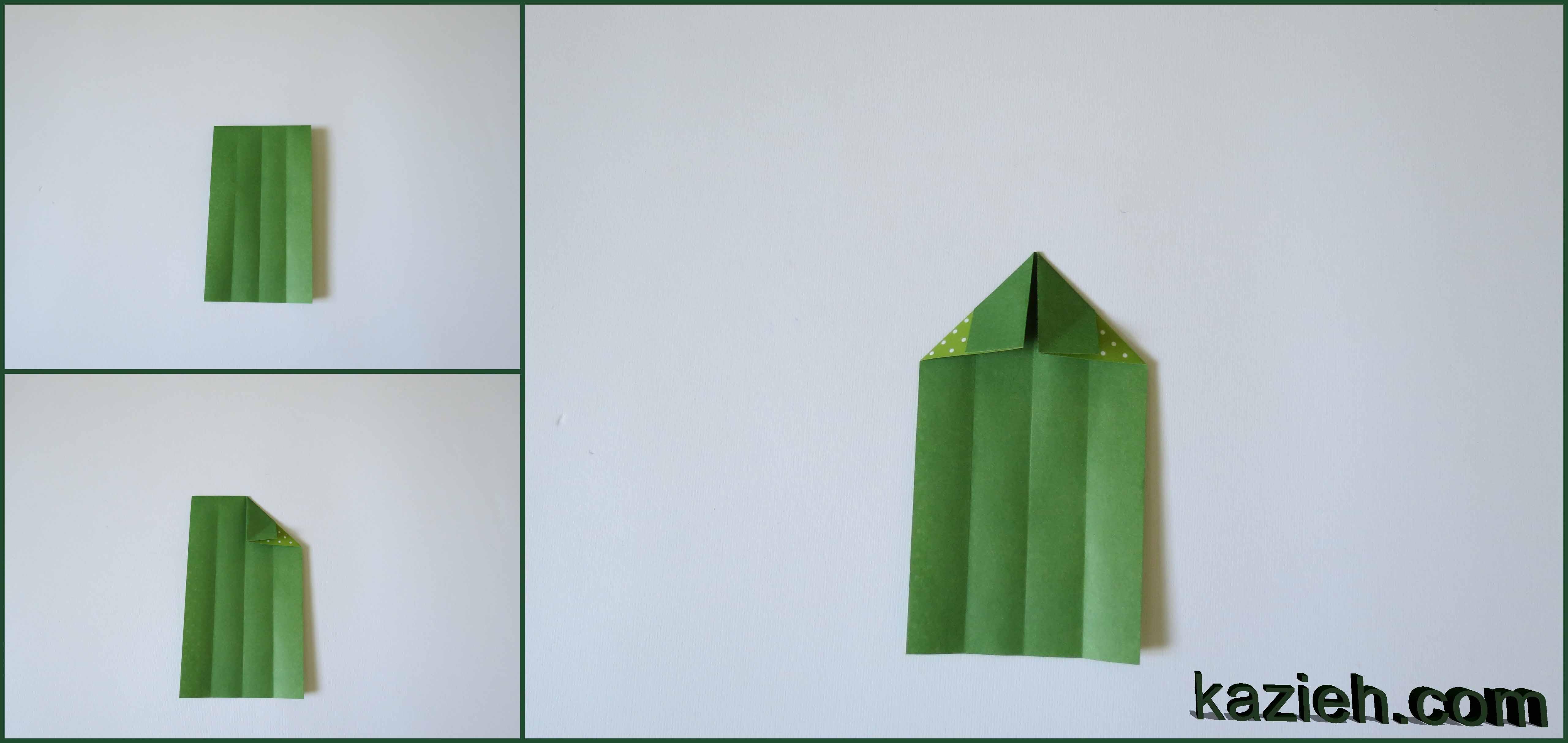 آموزش نشان کتاب قلب اوریگامی - مرحله سوم