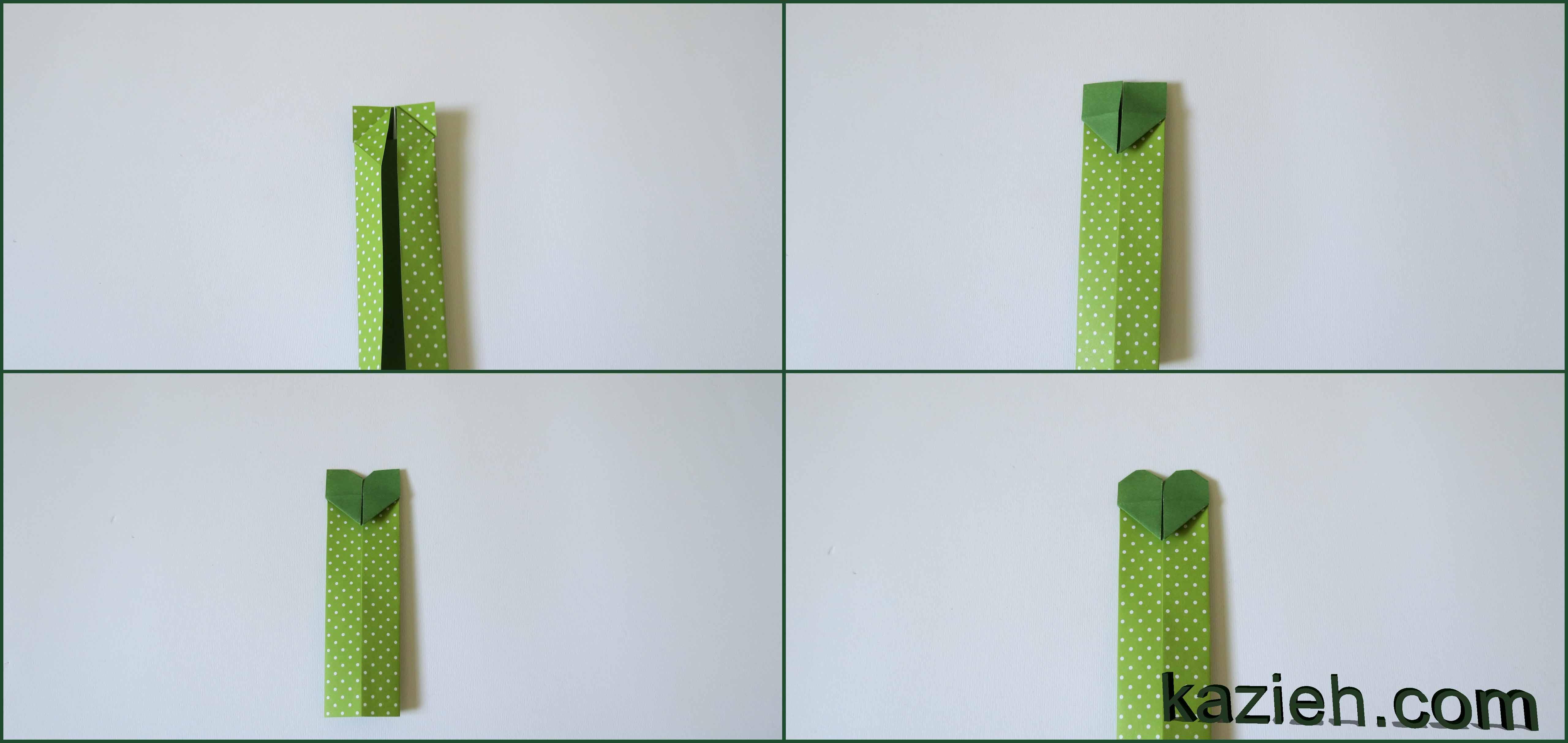 آموزش نشان کتاب قلب اوریگامی - مرحله ششم