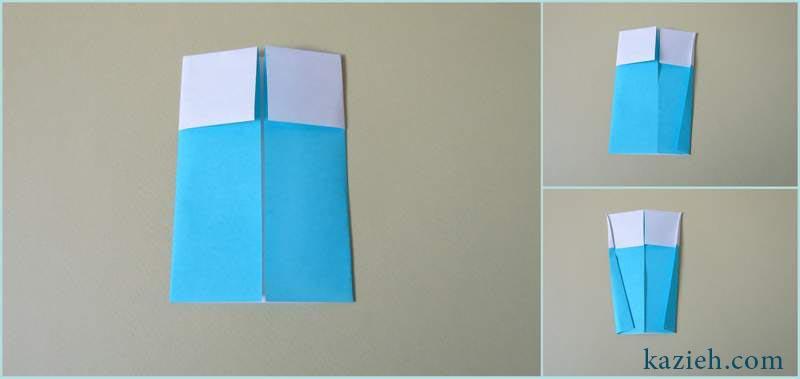 آموزش لیوان شربت اوریگامی - مرحله سوم - کازیه