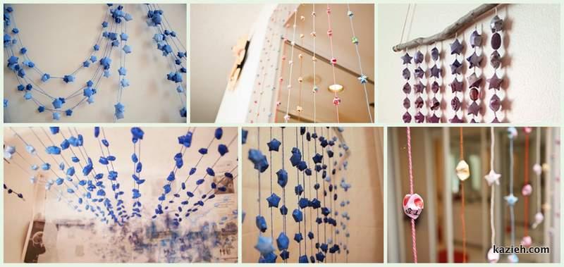 Collages6 ایدههایی جهت بهره بری و استفاده از ستارههای شانس اوریگامی