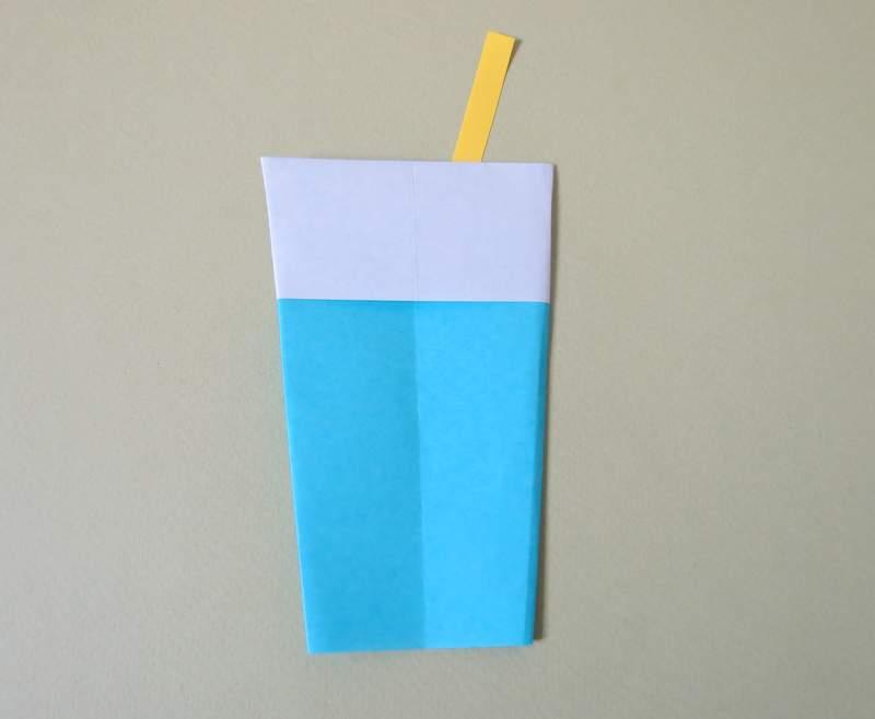 آموزش لیوان شربت اوریگامی - کازیه