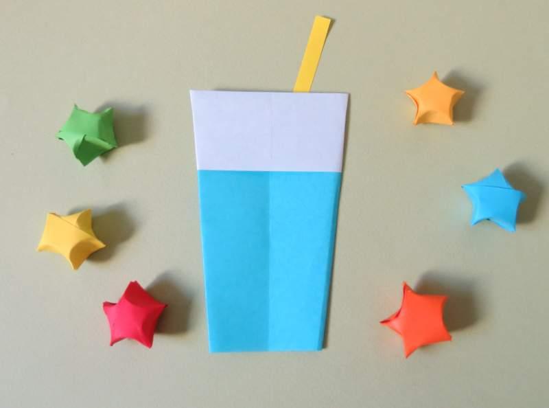 لیوان شربت اریگامی origami juice - کازیه