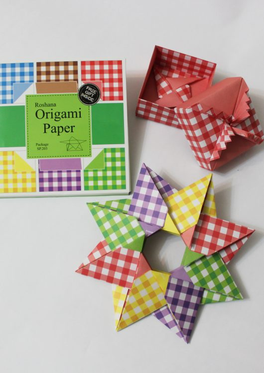 کاغذ اوریگامی چارخونه - کازیه