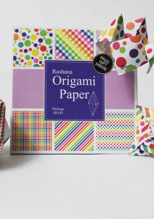 کاغذ اوریگامی رنگین کمان - کازیه