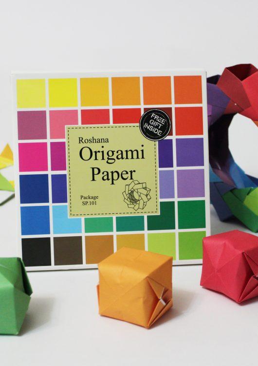۷۲ برگ کاغذ رنگی اوریگامی- کازیه