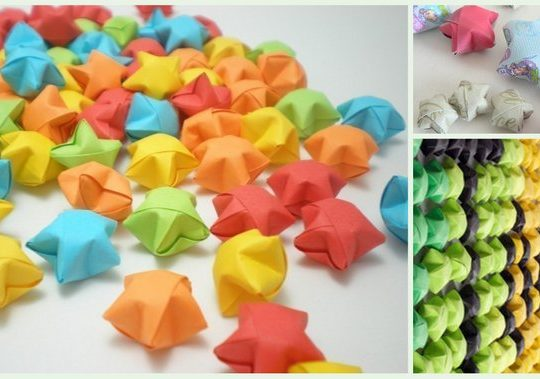 ایدههایی برای استفاده از ستارههای شانس اوریگامی - کازیه