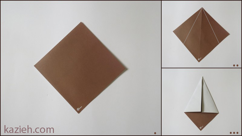 آموزش آدمک اوریگامی - مرحلهء اول ساختن سر