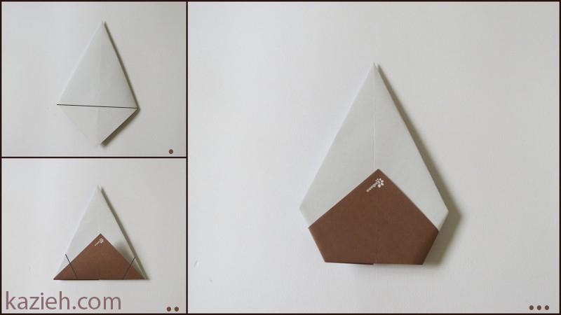 آموزش آدمک اوریگامی - مرحلهء دوم ساختن سر
