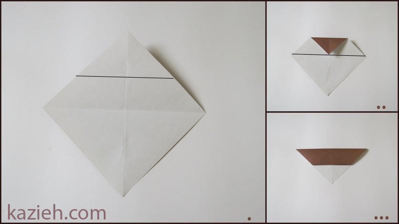 آموزش آدمک اوریگامی - مرحلهء اول ساختن بدن