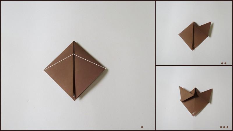 آموزش آدمک اوریگامی - مرحلهء سوم ساختن بدن